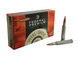 Federal Premium Vital-Shok Ammunition 25-06 Remington 100 Grain Trophy Copper Tipped Boat Tail Lead-Free Box of 20