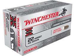 Winchester Super-X Ammunition 22 Hornet 45 Grain Soft Point