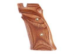 Hogue Fancy Hardwood Grips S&W 41 Right Hand Thumb Rest Checkered Rosewood Laminate