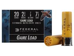 "Federal Game-Shok Game Load Ammunition 20 Gauge 2-3/4"" 7/8 oz #7-1/2 Shot Box of 25"