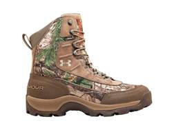 "Under Armour Brow Tine 8"" Waterproof Uninsulated Hunting Boots Leather and Nylon Realtree Xtra/Fawn"
