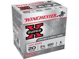 """Winchester Super-X High Brass Ammunition 20 Gauge 2-3/4"""" 1 oz #6 Shot"""
