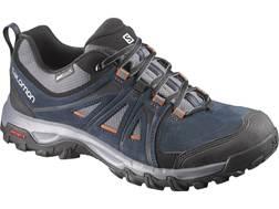 "Salomon Evasions ClimaShield 4"" Waterproof Hiking Shoes Synthetic Deep Blue/Dark Cloud/Oxide Men's"