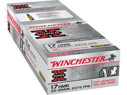 Winchester Super-X Ammunition 17 Hornady Magnum Rimfire (HMR) 20 Grain XTP Jacketed Hollow Point Box of 250 (5 Boxes of 50)
