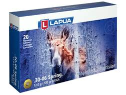 Lapua Mega Ammunition 30-06 Springfield 185 Grain Soft Point Box of 20