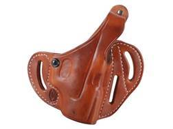 El Paso Saddlery Dual Duty 3 Slot Outside the Waistband Holster Right Hand Glock 26, 27, 33 Leather