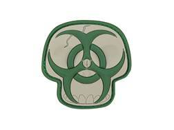 """Maxpedition Biohazard Skull PVC Patch Tan and Green  2"""" x 2"""""""