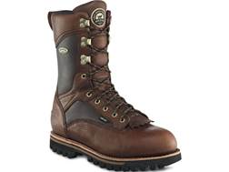 "Irish Setter Elk Tracker 12"" Waterproof 600 Gram Insulated Hunting Boots Leather Brown Men's 11 D"
