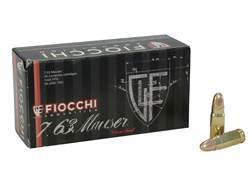 Fiocchi Ammunition 30 Mauser (7.63mm) 88 Grain Full Metal Jacket Box of 50