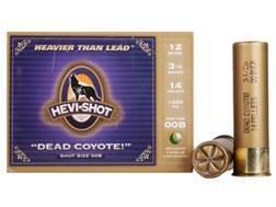 "Hevi-Shot Dead Coyote Ammunition 12 Gauge 3-1/2"" 00 Buckshot Non-Toxic 12 Pellets Box of 5"