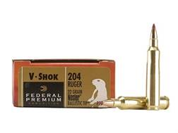 Federal Premium V-Shok Ammunition 204 Ruger 32 Grain Nosler Ballistic Tip Box of 20