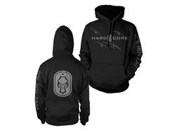 Hard Core Men's Pitboss Hooded Sweatshirt Synthetic Blend Black