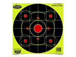 "Birchwood Casey Dirty Bird Yellow 12"" Bullseye Targets Package of 25"