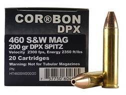 Cor-Bon Hunter Ammunition 460 S&W Magnum 200 Grain DPX Hollow Point Lead-Free Box of 20