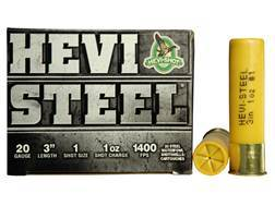 "Hevi-Shot Hevi-Steel Waterfowl Ammunition 20 Gauge 3"" 1 oz #1 Non-Toxic Shot"