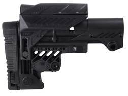 Command Arms Sniper Sharp Shooting Buttstock with Adjustable Cheek Rest 10-Position Collapsible Mil-Spec Diameter AR-15, LR-308 Carbine Aluminum & Synthetic Black