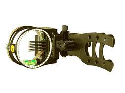 "Trophy Ridge Micro Hit Man 7-Pin Bow Sight with Light .010"" Pin Diameter Black"