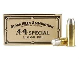 Black Hills Cowboy Action Ammunition 44 Special 210 Grain Lead Flat Point Box of 50