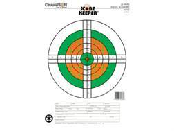 "Champion Score Keeper  25 Yard Slow Fire Pistol Targets 11"" x 16"" Paper Fluorescent Orange/Green Bull Package of 12"