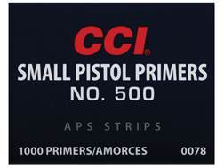 CCI Small Pistol APS Primers Strip #500 Case of 5000 (5 Boxes of 1000)