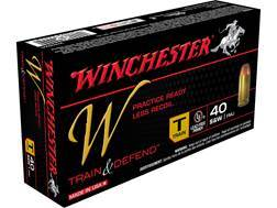 Winchester W Train Reduced Lead Ammunition 40 S&W 180 Grain Full Metal Jacket