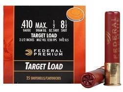 "Federal Premium Gold Medal Ammunition 410 Bore 2-1/2"" 1/2 oz #8-1/2 Shot Case of 250 (10 Boxes of 25)"