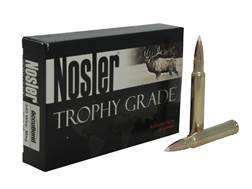 Nosler Trophy Grade Ammunition 340 Weatherby Magnum 300 Grain AccuBond Long Range Box of 20