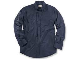 Beretta Men's V-2 Tech Shooting Shirt Long Sleeve Polyester Ripstop Navy XXL 50-52