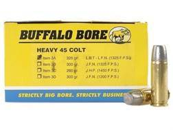 Buffalo Bore Ammunition 45 Colt (Long Colt) +P 325 Grain Lead Long Flat Nose