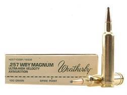 Weatherby Ammunition 257 Weatherby Magnum 100 Grain Hornady InterLock Spire Point Box of 20