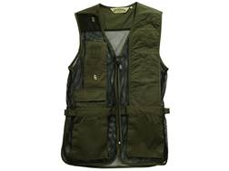 Bob Allen 240M Mesh Back Shooting Vest Left Hand Cotton Twill and Mesh Sage Medium