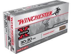 Winchester Super-X Ammunition 30-30 Winchester 150 Grain Power-Point Box of 20