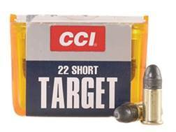 CCI Target Ammunition 22 Short 29 Grain Lead Round Nose Box of 100