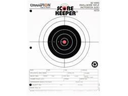 "Champion Score Keeper 50 Yard Small Bore Notebook Targets 8.5"" x 11"" Paper Orange Bull Pack of 12"