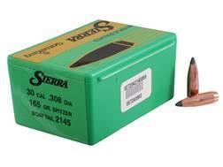 Sierra GameKing Bullets 30 Caliber (308 Diameter) 165 Grain Spitzer Boat Tail Box of 100