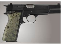 Hogue Extreme Series Grip Browning Hi-Power Checkered G-10 OD Green Camo