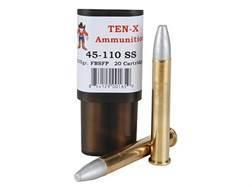 Ten-X Cowboy Ammunition 45-110 Sharps 535 Grain Spitzer Flat Point Box of 20
