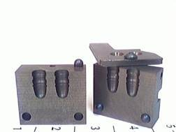 Saeco 2-Cavity Bullet Mold #391 38 Special, 357 Magnum (358 Diameter) 158 Grain Round Nose Bevel Base