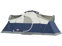 "Coleman Montana Elite 8 Man Dome Tent 192"" x 84"" x 74"" Polyester Blue, White and Gray"