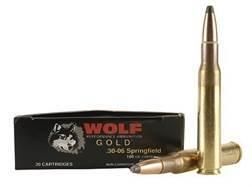 Wolf Gold Ammunition 30-06 Springfield 180 Grain Soft Point Box of 20