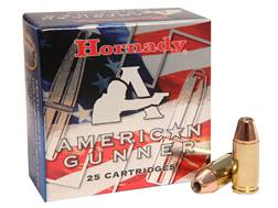 Hornady American Gunner Ammunition 9mm Luger +P 124 Grain XTP Jacketed Hollow Point Box of 25