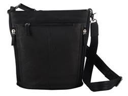 Gun Tote'N Mamas Bucket Tote Handbag Leather Black