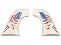 Hogue Grips Ruger Super Blackhawk Ivory Polymer Eagle with Flag Pattern