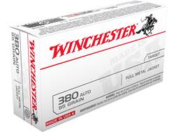 Winchester USA Ammunition 380 ACP 95 Grain Full Metal Jacket