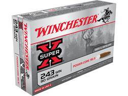Winchester Super-X Power-Core 95/5 Ammunition 243 Winchester 90 Grain Hollow Point Boat Tail Lead-Free