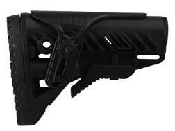 Mako GLR16 Buttstock with Adjustable Cheek Rest Collapsible AR-15, LR-308 Carbine Synthetic Black