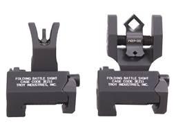 Troy Industries Medium Flip-Up Battle Sight Set M4-Style Front, Diopter Rear AR-15 Aluminum