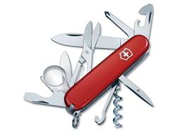 Victorinox Swiss Army Explorer Folding Pocket Knife 16 Function Stainless Steel Blade Polymer Handle Red