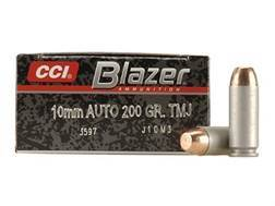 CCI Blazer Ammunition 10mm Auto 200 Grain Total Metal Jacket