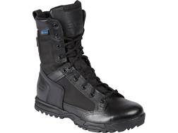 "5.11 Skyweight 8"" Side Zip Uninsulated Waterproof Tactical Boots Leather Black Men's"
